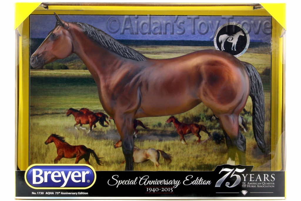 Breyer 1730 AQHA 75th Anniversary Limited Edition Bay Ideal QH