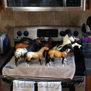breyer horses on the stove
