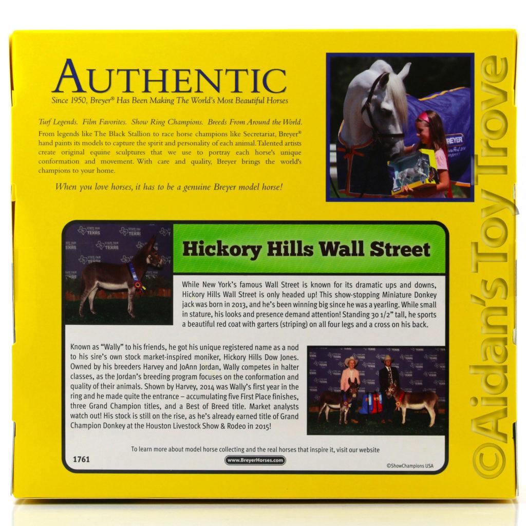 Breyer Hickory Hills Wall Street 1761