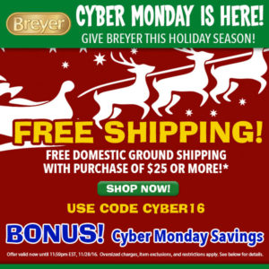 Breyer 2016 Cyber Monday Sale