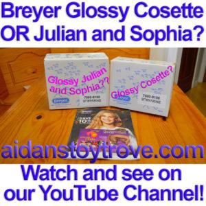 Breyer Glossy Cosette & Julien and Sophia