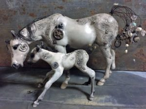 Breyer Custom Susecion and Le Fire by Elayne Watrus