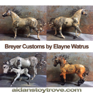 Breyer Custom Steampunk Horses by Elayne Watrus