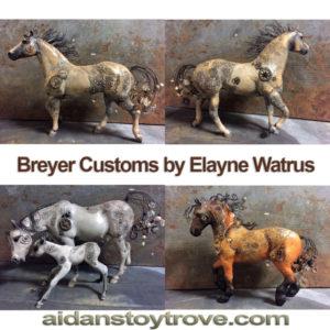 Breyer Custom Steampunk Horses by Elayne Watrus