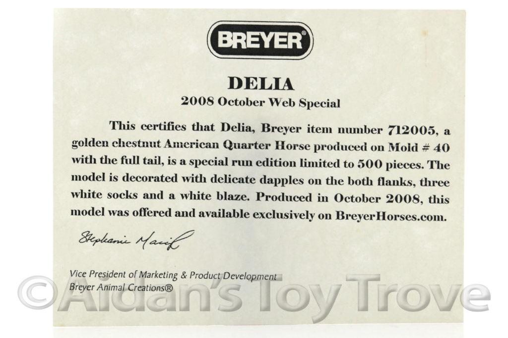 Breyer Delia 712005 Web Special Lady Phase