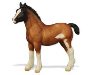 Breyer Test Color Clydesdale Foal Bay Roan Sabino