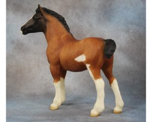 Breyer Test Color Clydesdale Foal Bay Roan Sabino