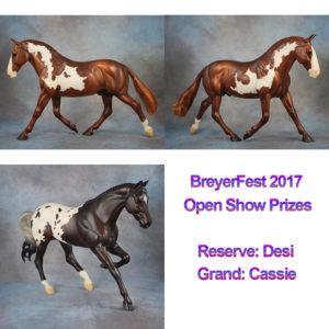BreyerFest 2017 Open Show Prizes Desi and Cassie