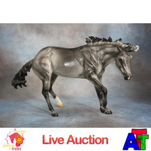 Breyer Glossy Grulla Working Cow Horse BreyerFest 2017 Live Auction Lot