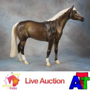 Breyer Dapple Liver Chestnut Trakehner BreyerFest 2017 Live Auction Lot