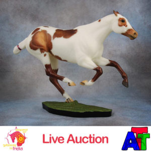 Breyer Chestnut Pinto Polo Pony Smary Jones BreyerFest 2017 Live Auction Lot