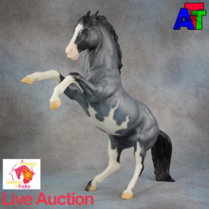 Breyer Blue Roan Pinto Fighting Stallion BreyerFest 2017 Live Auction Lot