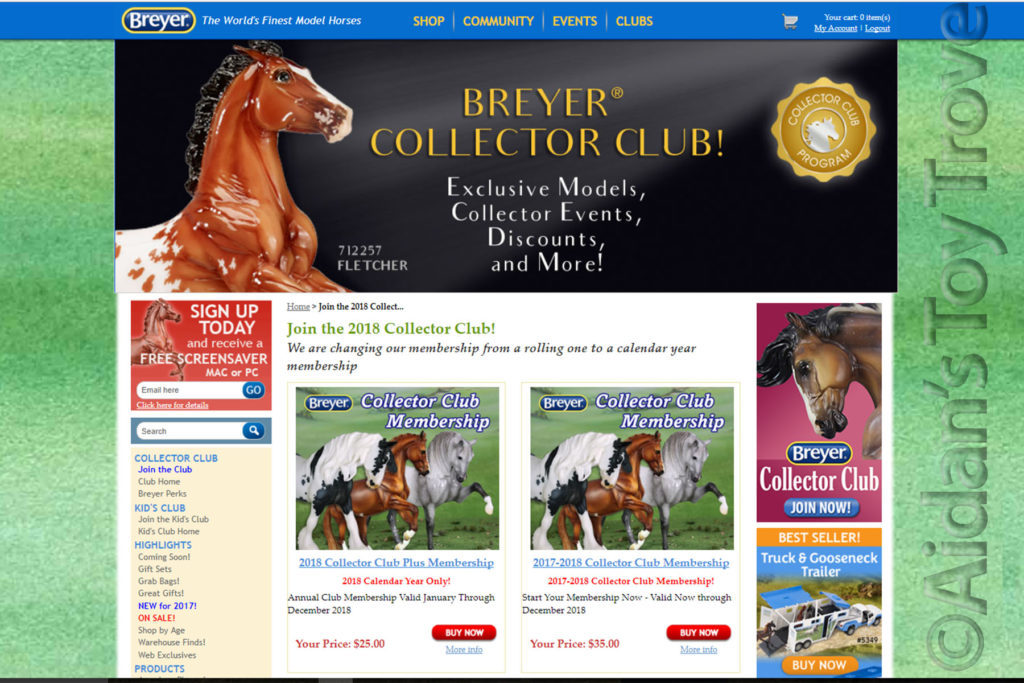 Breyer Collector's Club Membership