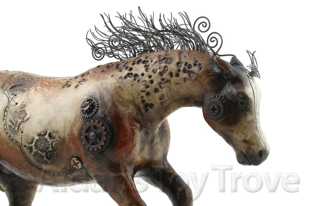 Peter Stone + Breyer Custom Steampunk Horse by Elayne Watrus