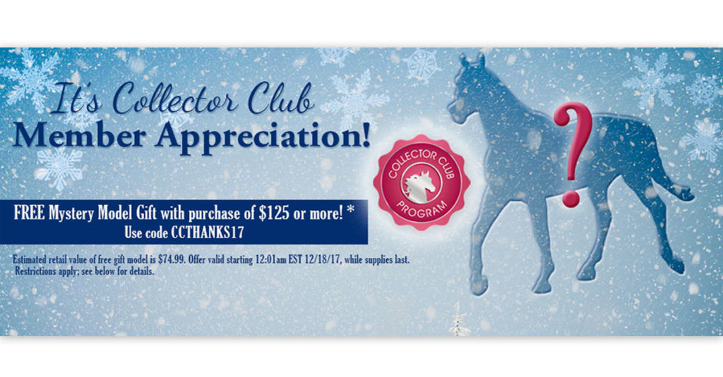 Breyer 2017 Collector's Club Appreciation
