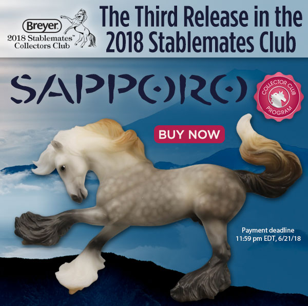Breyer Sapporo 712247 2018 Stablemate Club Special Run