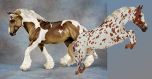 Breyer Woodrow and Jackpot BreyerFest 2018 Raffle Models
