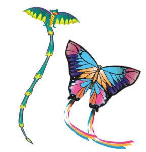 Popup Butterfly and Dragon Kites