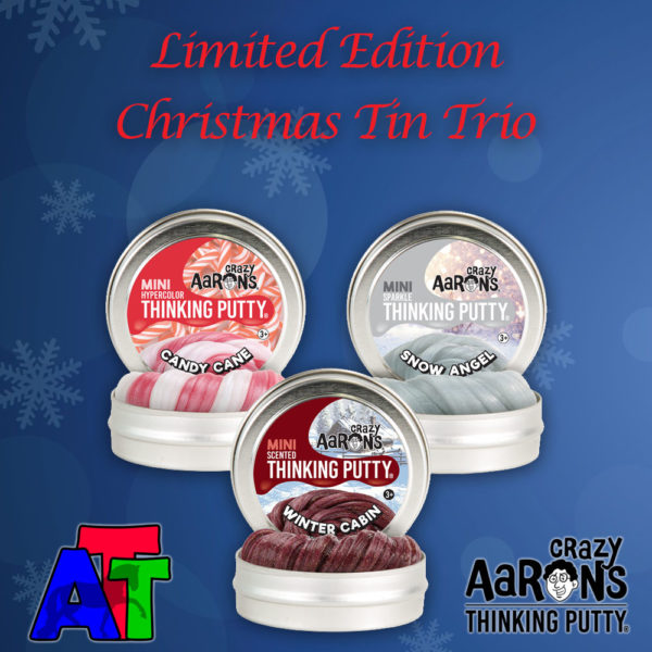 Crazy Aaron's Thinking Putty Christmas Mini Tins