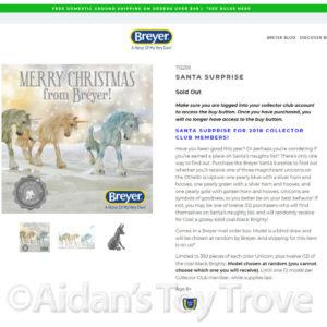Breyer Santa Surprise 712259